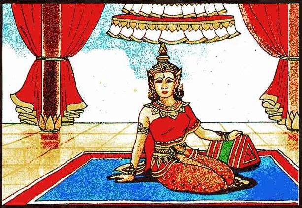 เทวดาในเศวตฉัตร ท่านว่าผู้นั้นเป็นคนมีบุญวาสนา ชะตาดี ทำราชการจะได้เป็นนายคน